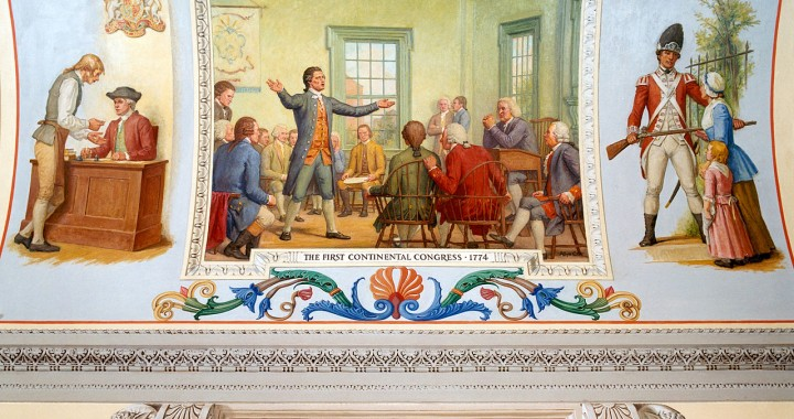 Image of the first continental congress